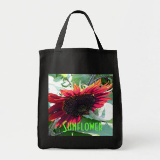 Big Red Sunflower Grocery Grocery Tote Bag