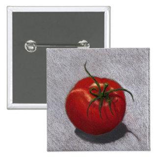 BIG RED TOMATO ART PINS