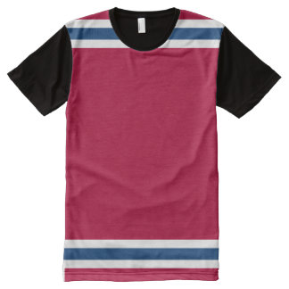 Big Red White and Blue All-Over Print T-shirt