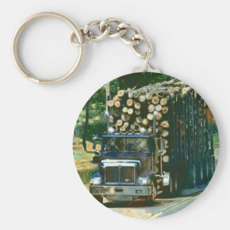 BIG RIG LOGGING TRUCK LORRY Art Key Ring