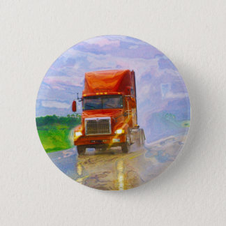 BIG RIG LORRIES & TRUCKS for Truck-lovers 6 Cm Round Badge