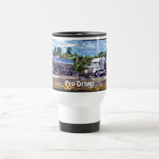 Big Rig Trucker's Lorry Design for Truck-lovers Travel Mug