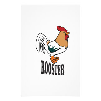big rooster bird stationery