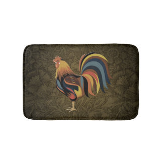 Big Rooster On The Country Farm Deco Ranch Art Bath Mat
