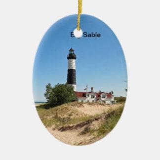 Big Sable Point Ceramic Ornament