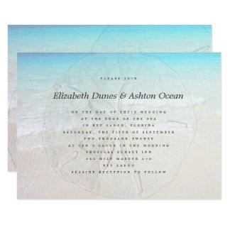 Big Sand Dollar Seaside Wedding Invitation