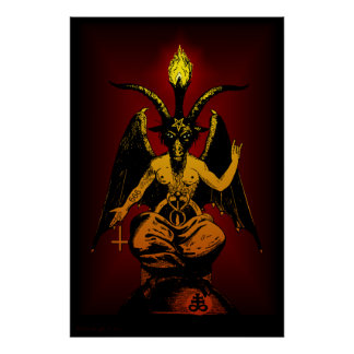 BIG Satanic Goat 24x36 Wall Art Poster