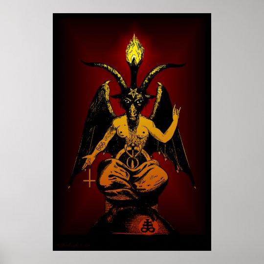 Big Satanic Goat 24x36 Wall Art Poster Zazzle Com Au