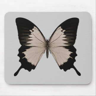 Big Sepia Orange & Black Butterfly Mouse Pads