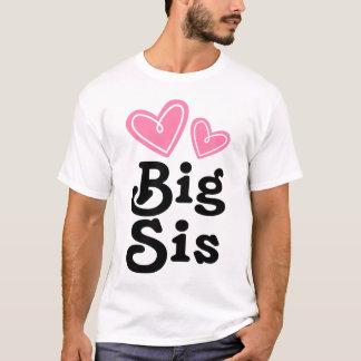 Big Sis Pink Heart Tee Shirt