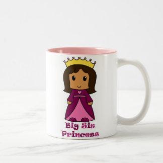 Big Sis Princess Two-Tone Coffee Mug