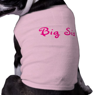 Big Sis Sleeveless Dog Shirt