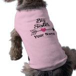 Big Sister Arrow Personalised Dog T Shirt