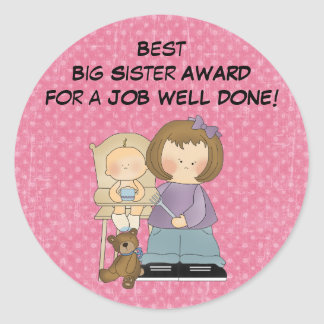 Big Sister Award sticker