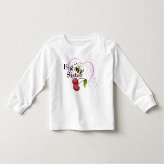 Big Sister Bumble Bee Cherry Pink Heart Toddler T-Shirt