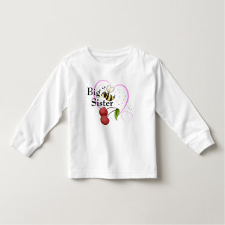 Big Sister Bumble Bee Cherry Pink Heart Tee Shirts