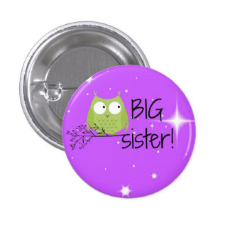big sister button! 3 cm round badge