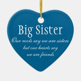 Big Sister Ceramic Heart Decoration