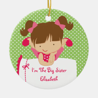 Big Sister Christmas Ornament Sweet Blonde Girl