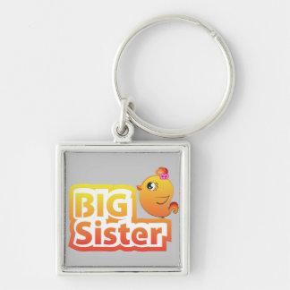 Big sister cute baby chicken bird keychain