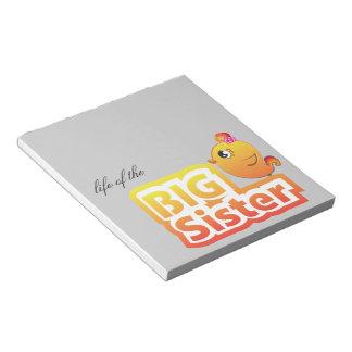 Big sister cute baby chicken bird notepad