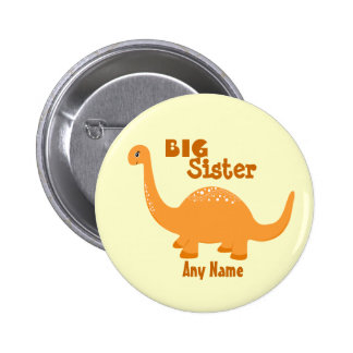 Big Sister Dinosaur Print Button