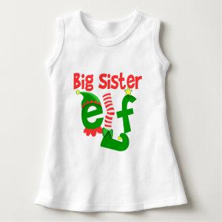 Big Sister Elf Christmas Dress