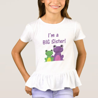 Big Sister Frog Sibling T (Purple/Green) T-Shirt