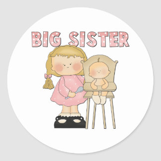 Big Sister Gift Classic Round Sticker