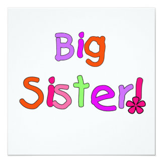 Big Sister Gifts Personalized Invitation