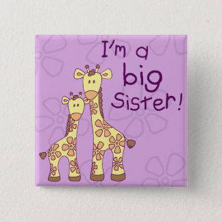 Big Sister Giraffe 15 Cm Square Badge