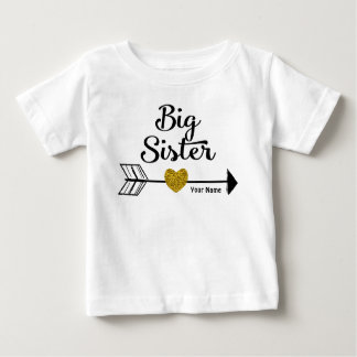 Big Sister Gold Arrow Personalized Shirt