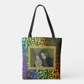 Big Sister & Little Baby Oliver Sparkly Tote Bag