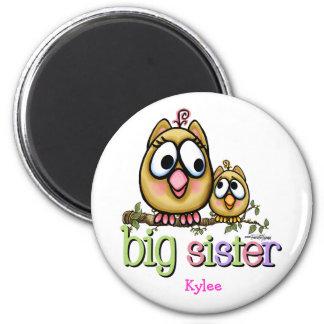 Big Sister - little Brother 6 Cm Round Magnet