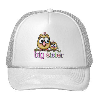 Big Sister Little Sister Owls Cap