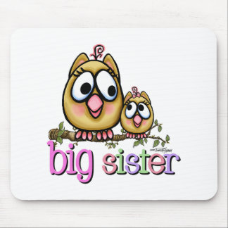 Big Sister Little Sister Owls Mouse Mats