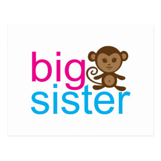 Big Sister Monkey Postcard
