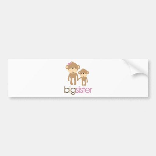 Big Sister Monkey Pregnancy Announcement T-shirt Bumper Sticker