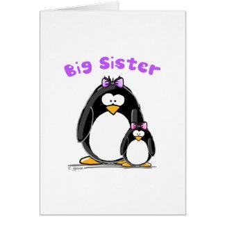 Big sister Penguin Greeting Card
