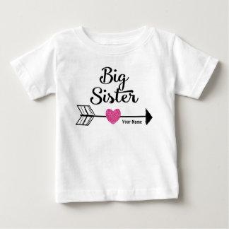 Big Sister Pink Arrow Personalised Shirt