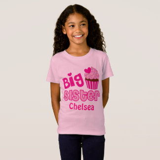 Big Sister Pink Cupcake Sweets Cake Sprinkles T-Shirt