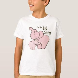 Big Sister Pink Elephant T Shirt