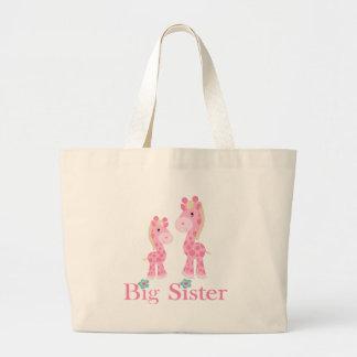 Big Sister Pink Giraffes Bags