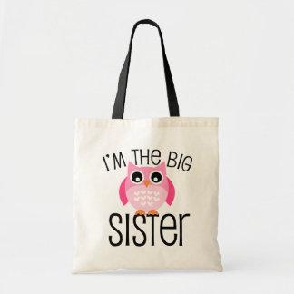 Big Sister Pink Owl Budget Tote Bag