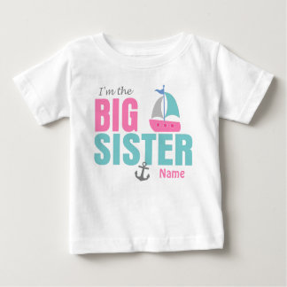 Big Sister Pink Sailboat Personalized T Shirt