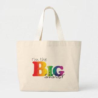 Big Sister - rainbow Large Tote Bag