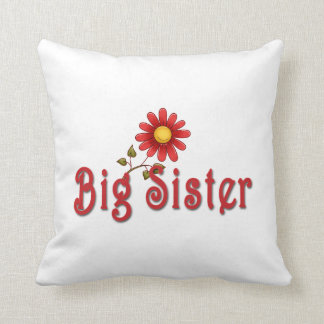 Big Sister Red Flower Pillows