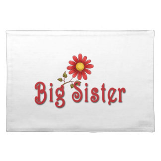Big Sister Red Flower Place Mat