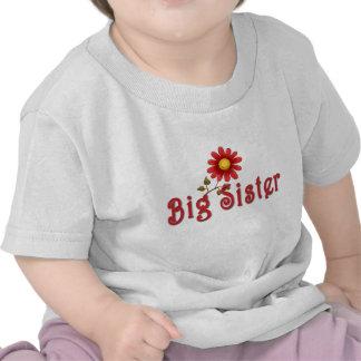 Big Sister Red Flower Tshirts