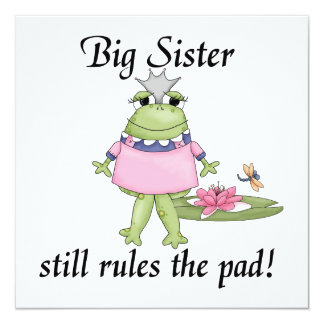 Big Sister Rules the Pad Gifts Card